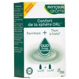 Phytosun Aroms Confort de La Sphère ORL Duo d'Huiles Essentielles 2 x 5 ml