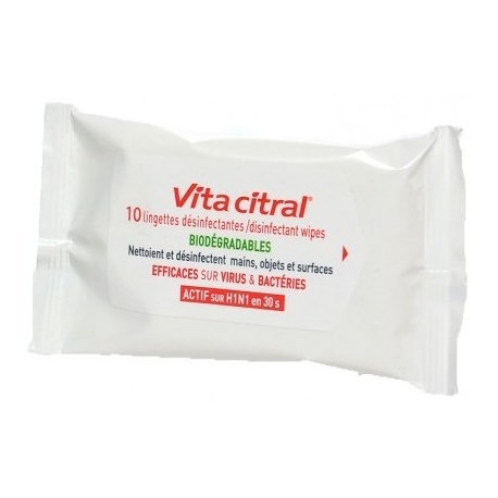 Vita Citral Lingettes Désinfectantes x 10