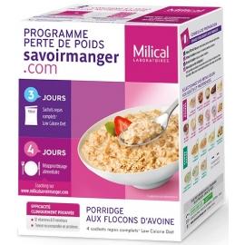 Milical Perte De Poids Porridge Aux Flocons d'Avoine 4 sachets