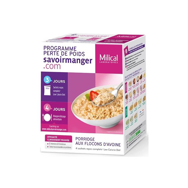 milical-perte-de-poids-porridge-aux-flocons-d-avoine-4-sachets