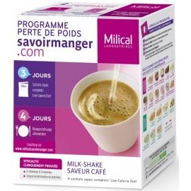 Milical Perte de poids Milk-Shake Saveur Café 4 Sachets
