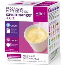 Milical Perte de poids Milk-Shake Saveur Vanille 4 Sachets