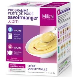 Milical Perte de poids Crème Saveur Vanille 4 Sachets