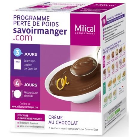 Milical Perte de poids Crème Au Chocolat 4 Sachets