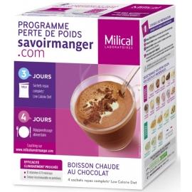 Milical Perte de poids Boisson Chaude Au Chocolat 4 Sachets