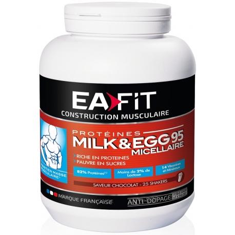Eafit Construction Musculaire Milk&Egg 95 Micellaire 750 g