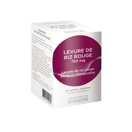 Granions Levure De Riz Rouge 750 mg 60 Gélules