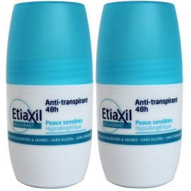 EtiaXil Déodorant Anti-transpirant 48 h Roll-on 2 x 50 ml