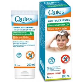 Quies Anti-poux & Lentes Shampooing Traitant 3 en 1 200 ml