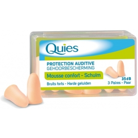 Quies protection Auditive Mousse Confort Chair 3 Paires