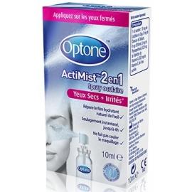 Optone ActiMist 2 en 1 Yeux Secs + Irrités 10 ml