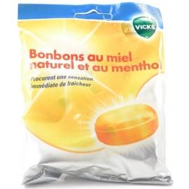 Vicks Bonbons Au Miel Naturel et Au Menthol 72 g
