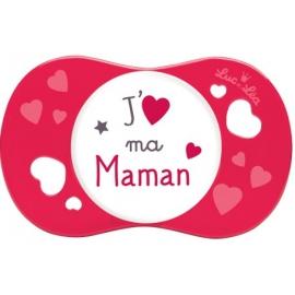 Luc et Léa Sucette Symétrique + 18 mois J'aime Ma Maman