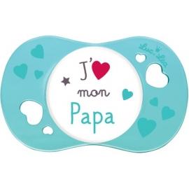 Luc et Léa Sucette Symétrique + 18 mois J'aime Mon Papa