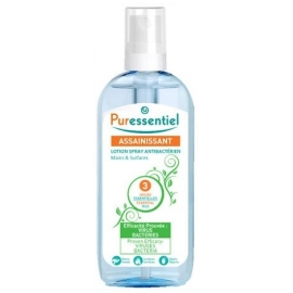 Puressentiel Assainissant Lotion Spray Antibactérien Mains & Surfaces 80 ml