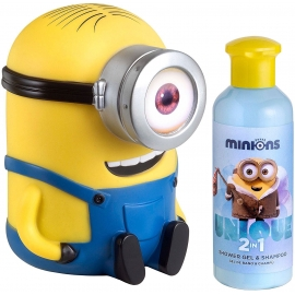 Minions Gel Douche & Shampooing 3D Tirelire 200 ml