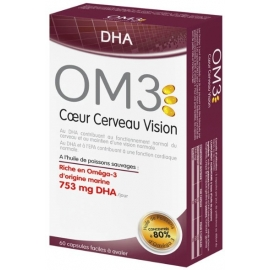 OM3 DHA Coeur Cerveau Vision 60 Capsules