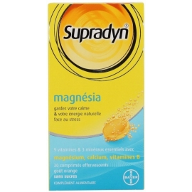 SUPRADYN MAGNESIA 30 COMPRIMES EFFERVESCENTS