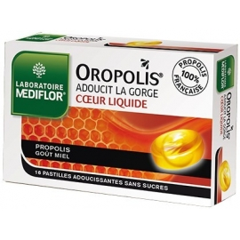 Mediflor Oropolis Coeur Liquide Adoucit La Gorge x 16 Pastilles