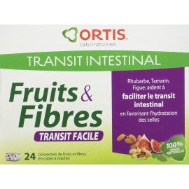 Ortis Fruits & Fibres Transit Facile Cubres à Mâcher x 24