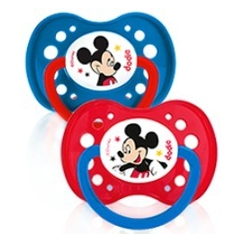 Dodie Sucette Silicone + 18 mois Mickey x 2