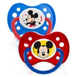 Dodie Sucette Silicone + 6 mois Mickey x 2