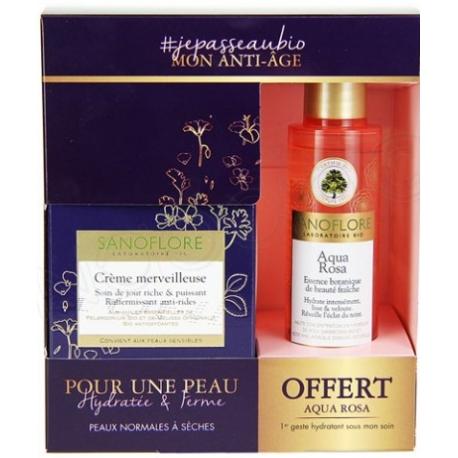 Sanoflore crème merveilleuse jour riche 50 ML + Aqua Rosa Essence Botanique 50 ml