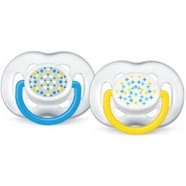 Avent sucettes 6-18 mois ultra-aérées décorées  sans BPA lot de 2