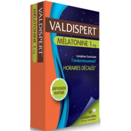 Valdispert Mélatonine 1 mg Horaires Décalés Comprimés orodispersibles x 50