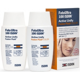 Isdin UV Care FotoUltra Active Unify Fusion Fluid Spf 50 Color 50 ml