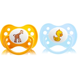 Dodie Sucette silicone 0-6 mois Duo Animaux