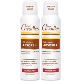Rogé Cavailles Homme Déodorant absorb+ 48h spray 2 x 150 ml