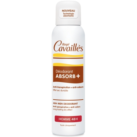 Rogé Cavaillès Homme Déodorant Absorb+  48h spray 150 ml