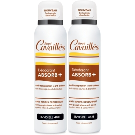 Rogé Cavailles déodorant absorb+ invisible 48h Spray 2 x 150 ml