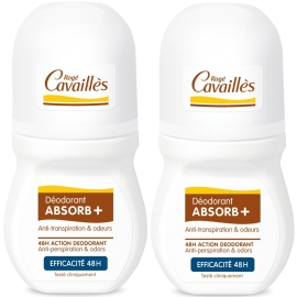 Rogé Cavailles déodorant absorb+ efficacité 48h Roll-on 2 x 50 ml