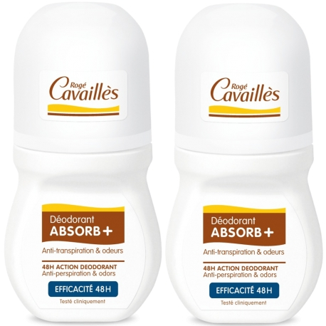Rogé Cavailles déodorant absorb+ efficacité 48h Roll-on 2 x 50 ml