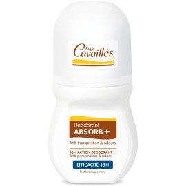 Rogé Cavailles déodorant absorb+ efficacité 48h roll-on 50 ml
