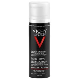 Vichy Homme Mousse De Rasage Anti-Irritations Modèle Voyage 50 ml