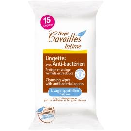 Rogé Cavaillès Intime Lingettes avec Anti-bactérien x 15