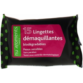 Nu Moments Lingettes Démaquillantes x 15