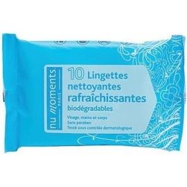 Nu Moments Lingettes Nettoyantes Rafraîchissantes x 10