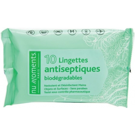 Nu Moments Lingettes Antiseptiques x 10