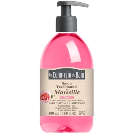 Le Comptoir du Bain Savon Traditionnel de Marseille Rose 500 ml