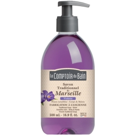 Le Comptoir du Bain Savon Traditionnel de Marseille Violette 500 ml