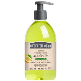Le Comptoir du Bain Savon Traditionnel de Marseille Citron Menthe 500 ml
