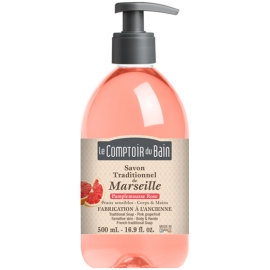 Le Comptoir du Bain Savon Traditionnel de Marseille Pamplemousse Rose 500 ml