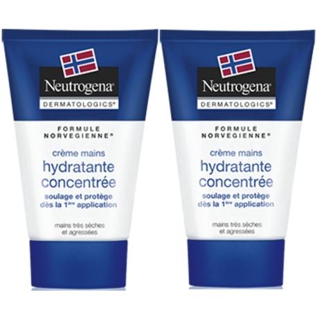 Neutrogena Crème Mains Hydratante Concentrée 2 x 50 ml