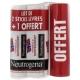 neutrogena sticks lèvres nutrition 2 x 4.8 g + 1 offert