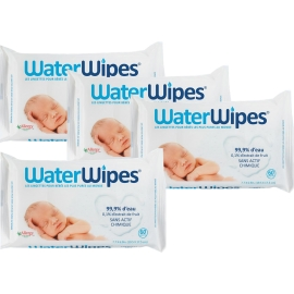 WaterWipes Lingettes 4 x 60