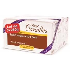 Rogé Cavaillès Savon Surgras Extra-doux 3 x 250 G